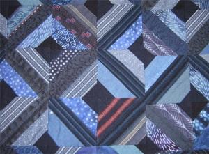 Detail 2 of indigo quilt