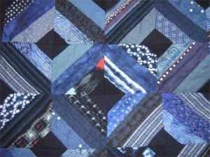 Detail 3 of indigo quilt