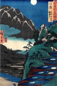 Moonviewing at Sarashina by Hiroshige