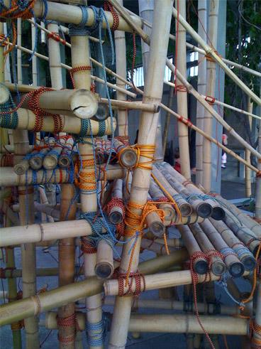 Cord ties on steps