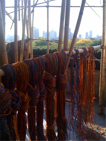 Cords used to tie the bamboo